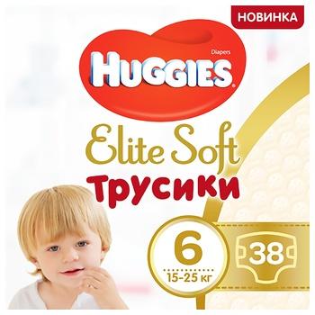 Трусики-подгузники Huggies Elite Soft Pants Mega 6 (XL) 32шт - купить, цены на Метро - фото 1