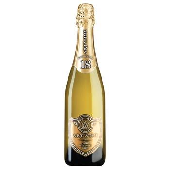 Вино игристое Artwine белое полусладкое 10-13.5% 0.75л - купить, цены на Ашан - фото 1