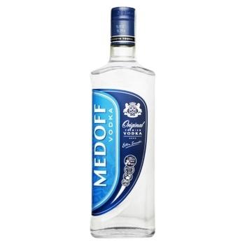 Водка Medoff оригинал 37.5% 0,5л - купить, цены на МегаМаркет - фото 1