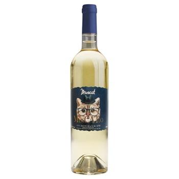 Вино Alianta Vin Muscatto Мукат белое полусладкое 10,5% 0,75л - купить, цены на Восторг - фото 1