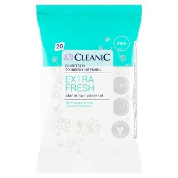 Салфетки влажные Cleanic Extra Fresh для интимной гигиены 20шт