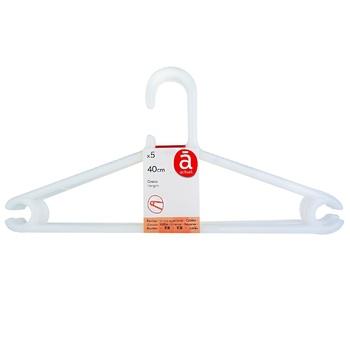 Actuel Plastic Set Hanger 5pc*40cm - buy, prices for Auchan - photo 1