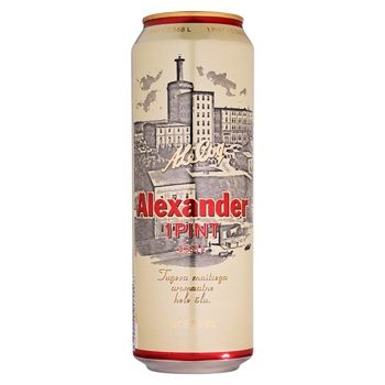 Пиво A. Le Coq Alexander Pint світле з/б 5,2% 568мл
