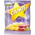 Zolote Zerno Salyut Corn Sticks with Salami Flavor 45g