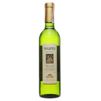 Вино Vardiani Ркацителі біле сухе 0,75л - купити, ціни на Ашан - фото 1