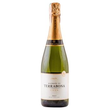 Вино игристое Marques de Terrabona Cava Brut белое сухое 11,5% 0,75л - купить, цены на Ашан - фото 1