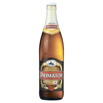 Пиво Primator Polotmavy 13% полутемное нефильтрованное 5,5% 0,5л