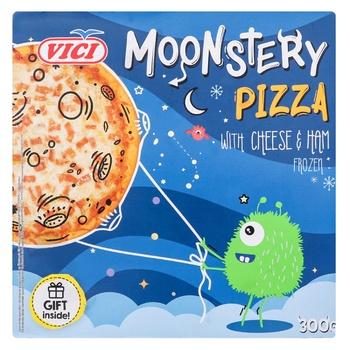 Пицца Vici Moonstery с ветчиной и с сыром моцарелла замороженая 300г