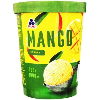 Мороженое Рудь Манго сорбет 500г - купить, цены на МегаМаркет - фото 1