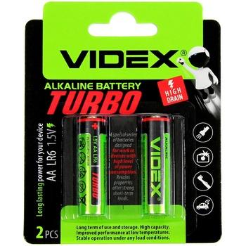 Батарейки Videx Alkaline Turbo AA LR6 1.5V