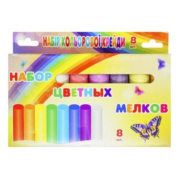 Набор Астра Дистрибьюшн цветных мелков AR02239 - купить, цены на Фуршет - фото 1
