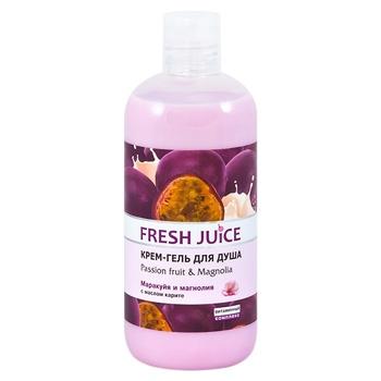 Крем-гель для душа Fresh Juice Passion fruit & Magnolia 500мл