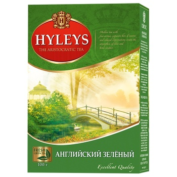 Hyleys English Gun Powder Large Leaf Green Tea - buy, prices for MegaMarket - image 1
