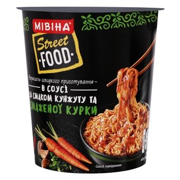 MIVINA® Street Food instant noodles in Sesame and Fried Chicken flavoured sauce 75g - buy, prices for MegaMarket - image 1