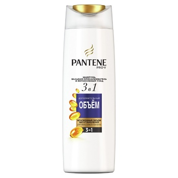 Pantene Pro-V 3in1 Additional Volume Shampoo and Balsam-Conditioner 360ml - buy, prices for Auchan - photo 1