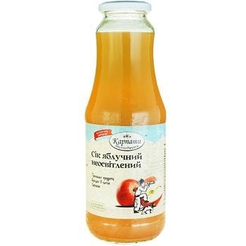Karpaty nasolodzhuysya Apple Juice 1l - buy, prices for Auchan - image 1