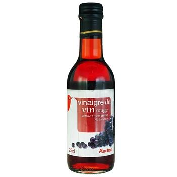 Уксус Ашан из красного вина 250мл - купить, цены на Ашан - фото 1