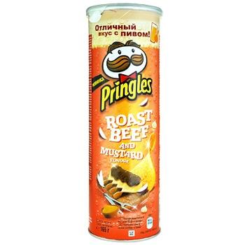 Чіпси Pringles Ростбіф та гірчиця 165г - купити, ціни на Ашан - фото 1