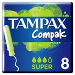Tampax Compak Super Tampons with applicator 8pcs - buy, prices for Auchan - photo 3