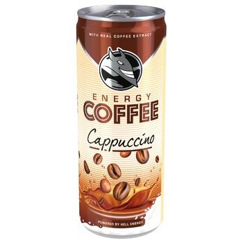 Кава холодна HELL Energy Coffee Cappuccino 250мл - купити, ціни на CітіМаркет - фото 1