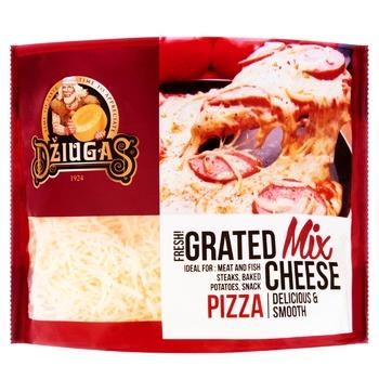 Сир Dziugas Мікс сирів для піци 40% 250г