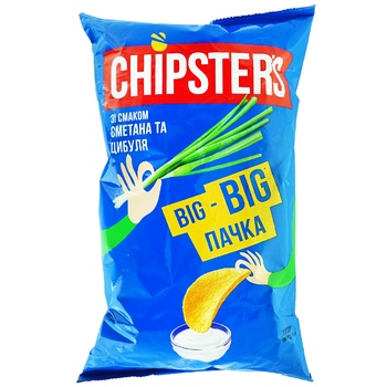 Chipsters Chips Taste Sour Cream with Onions 180g - buy, prices for CityMarket - photo 1