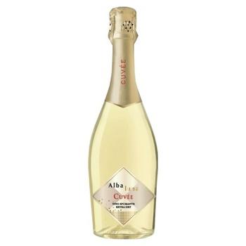 Вино игристое Alba Luna Cuvee Spumante Extra Dry белое сухое 11% 0,75л - купить, цены на Novus - фото 1