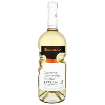 Вино Bolgrad Good Year Fresh White ординарное столовое белое полусладкое 9-13% 0,75л - купить, цены на МегаМаркет - фото 1