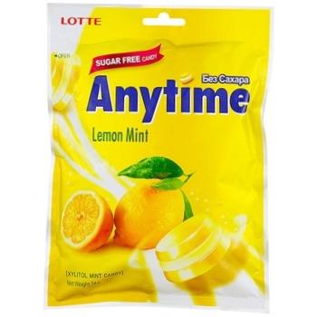 Карамель Lotte Лимон-мята без сахара 74г - купить, цены на Восторг - фото 1