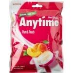 Леденцы Lotte Anytime с ксилитолом со вкусом сливы, персика и мяты 74г