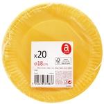 Actuel Orange Dessert Plate 20pc*16cm