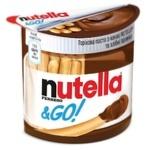 Ореховая паста с какао Nutella и Хлебные палочки (Nutella&Go) 52г