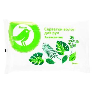 Салфетки Ашан влажные антисептические 24шт - купить, цены на Ашан - фото 1