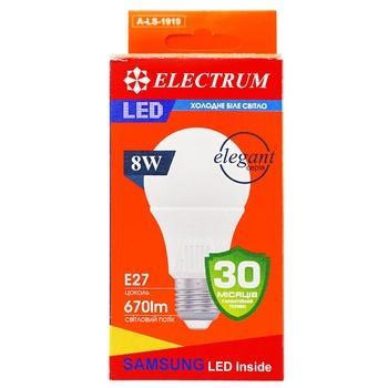 Лампа Electrum светодиодная A60 8W PA LS-33 Elegant Е27 4000 A-LS-1919 - купить, цены на Ашан - фото 1