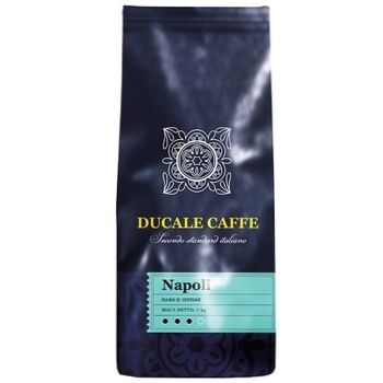 Кофе Ducale Caffe Napoli Средней обжарки в зернах 1кг - купить, цены на Ашан - фото 1