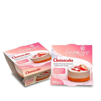 Creamoire With Strawberry Sauce Cheesecake Dessert 100g - buy, prices for MegaMarket - image 1