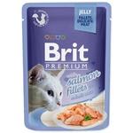 Корм Brit Premium с филе лосося в желе для кошек 85г