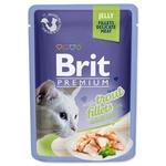 Корм Brit Premium с филе форели в желе для кошек 85г