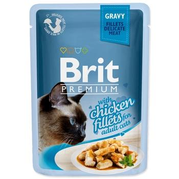 Корм Brit Premium с филе курицы в соусе для кошек 85г