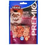 Лакомства Trixie Premio Hearts утка и минтай для котов 50г