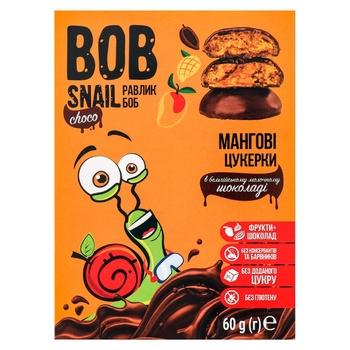 Цукерки Bob Snail мангові в молочному шоколаді без цукру 60г - купити, ціни на МегаМаркет - фото 1