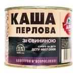 Консервы Алан Каша перловая со свининой 525г - купить, цены на Novus - фото 1