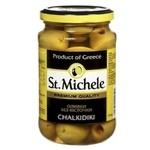 Оливки зелені St.Michele Халкідікі без кісточки 360г - купити, ціни на Novus - фото 1