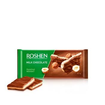 Шоколад Рошен молочный нуга орехи 90г - купить, цены на Фуршет - фото 1