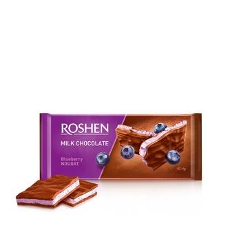 Шоколад Рошен молочный нуга черника 90г