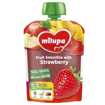 Пюре фруктовое Milupa Яблоко-Банан-Клубника для детей с 6 месяцев 80г - купить, цены на Таврия В - фото 1
