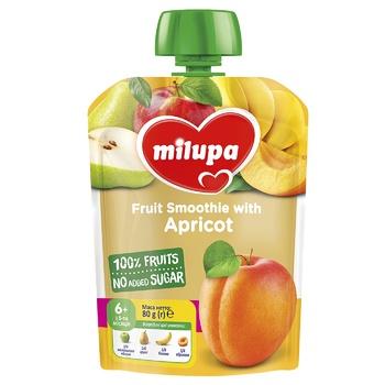 Пюре фруктовое Milupa Яблоко-Груша-Банан-Абрикос для детей с 6 месяцев 80г