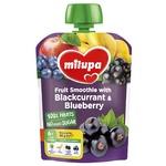 Пюре фруктовое Milupa Яблоко-Банан-Черная смородина-Черника для детей с 6 месяцев 80г