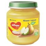 Пюре фруктовое Milupa Яблоко и груша для детей от 6 месяцев 125г