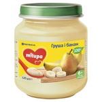 Пюре Milupa Груша и банан для детей от 6 месяцев 125г